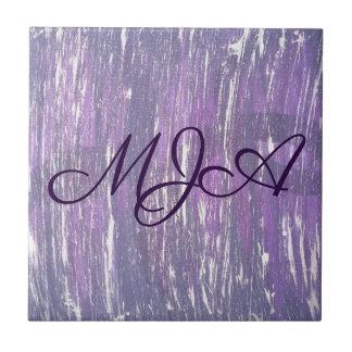 Disillusioned Kitchen | Monogram Purple Silver | Tile