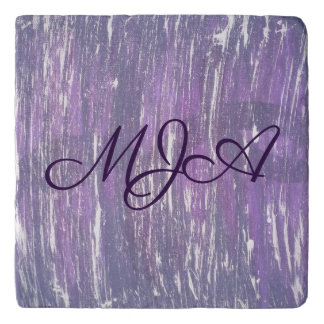 Disillusioned Kitchen | Monogram Purple Silver | Trivet