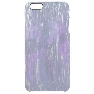 Disillusioned Metallic Purple Silver Plum Clear iPhone 6 Plus Case