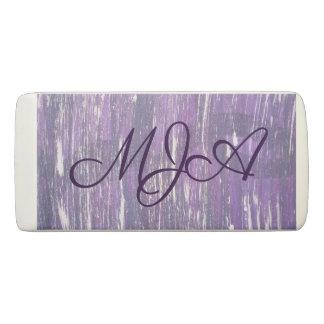 Disillusioned Office | Monogram Purple Silver | Eraser