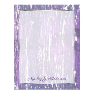 Disillusioned Office | Name Violet Purple Silver | Letterhead