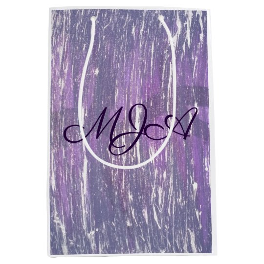 Disillusioned Party | Monogram Purple Silver | Medium Gift Bag
