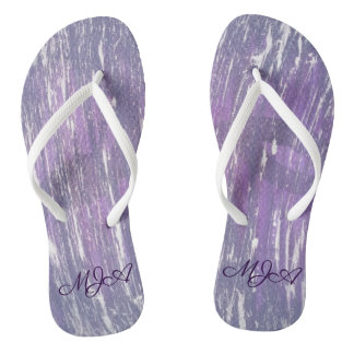 Disillusioned Style | Monogram Purple Silver | Flip Flops