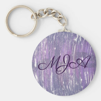 Disillusioned Style   Monogram Purple Silver   Keychain
