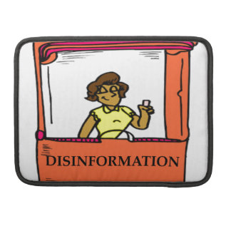 DISINFORMATION SLEEVE FOR MacBook PRO