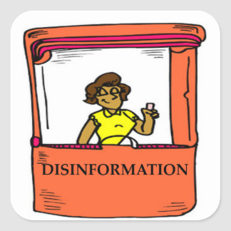 DISINFORMATION SQUARE STICKER