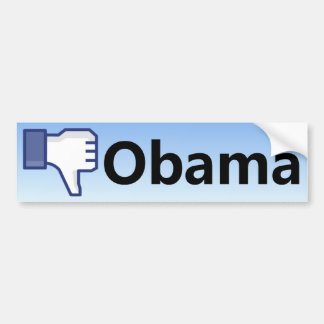 Dislike Obama - Anti Barack Obama Bumper Sticker