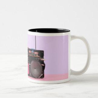 Dismantled Portable Stereo Two-Tone Coffee Mug