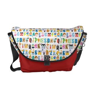Disney Alphabet Mania Pattern Courier Bags