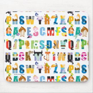 Disney Alphabet Mania Pattern Mouse Pad