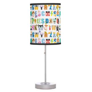 Disney Alphabet Mania Pattern Table Lamp
