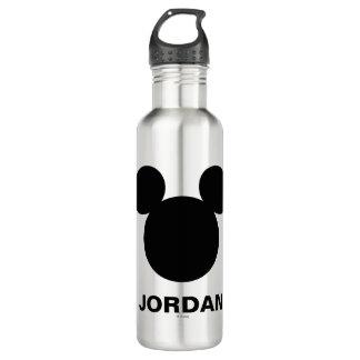 Disney Logo | Black Mickey Icon 710 Ml Water Bottle