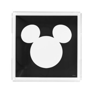 Disney Logo | White Mickey Icon Acrylic Tray