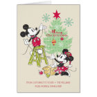 Disney   Mickey & Minnie   Classic Christmas Tree Card