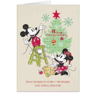 Disney | Mickey & Minnie | Classic Christmas Tree Card