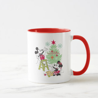 Disney | Mickey & Minnie | Classic Christmas Tree Mug
