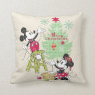 Disney | Mickey & Minnie | Classic Christmas Tree Throw Pillow