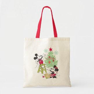 Disney | Mickey & Minnie | Classic Christmas Tree Tote Bag