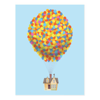Disney Pixar UP | Balloon House Pastel Postcard