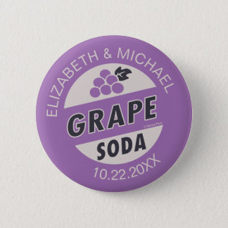 Disney Pixar Up Wedding   Grape Soda Button