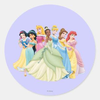 Disney Princess | Aurora, Tiana, Cinderella Center Round Sticker