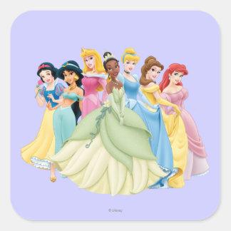 Disney Princess   Aurora, Tiana, Cinderella Center Square Sticker