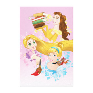 Disney Princess | Belle, Rapunzel, Cinderella Canvas Print