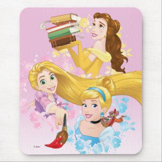 Disney Princess | Belle, Rapunzel, Cinderella Mouse Pad