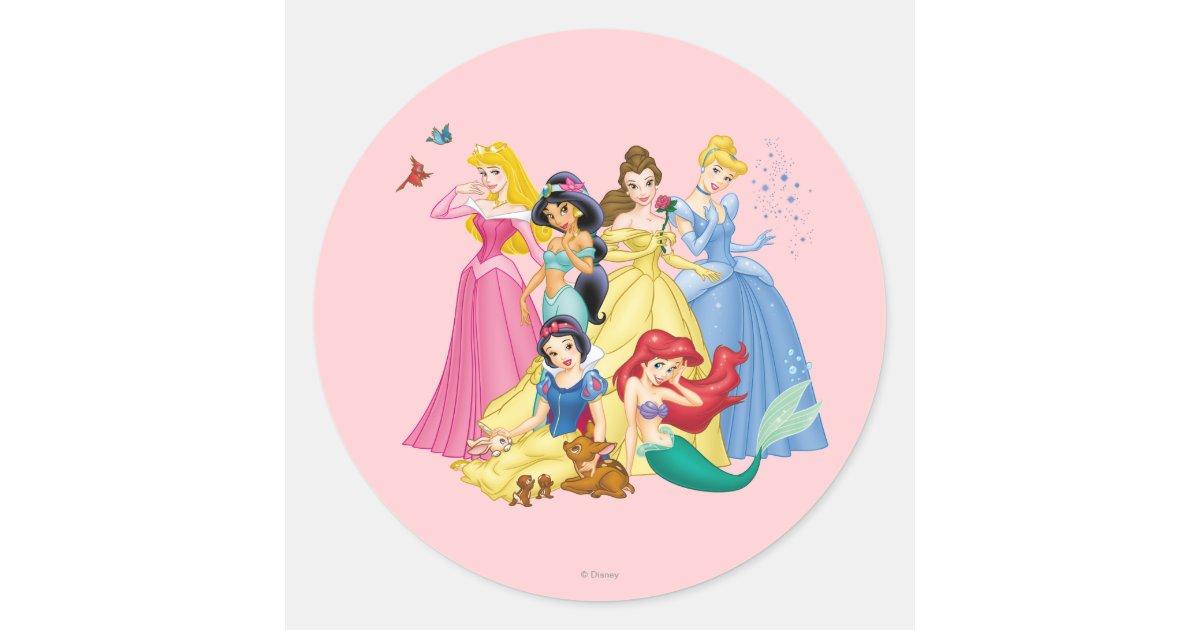 Disney Princess Birds And Animals Round Sticker Zazzle
