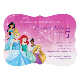 "Disney Princess | Birthday 5"" X 7"" Invitation Card"
