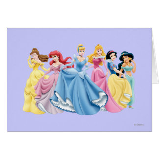 Disney Princess | Holding Dresses Out Card