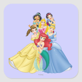 Disney Princess | Holding Hand to Face Square Sticker
