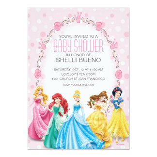 Disney Princess It's a Girl Baby Shower Card