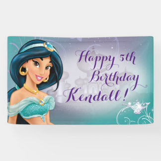 Disney Princess Jasmine Birthday Banner