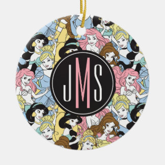 Disney Princess | Monogram Oversized Pattern Ceramic Ornament