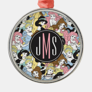 Disney Princess | Monogram Oversized Pattern Metal Ornament