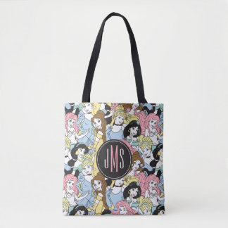 Disney Princess | Monogram Oversized Pattern Tote Bag