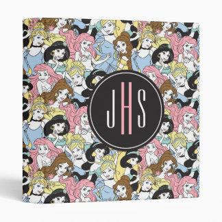 Disney Princess   Monogram Oversized Pattern Vinyl Binders