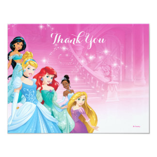 "Disney Princess Thank You | Birthday 4.25"" X 5.5"" Invitation Card"