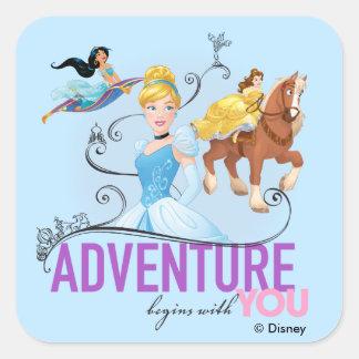 Disney Princesses | Adventure Begins With You Square Sticker