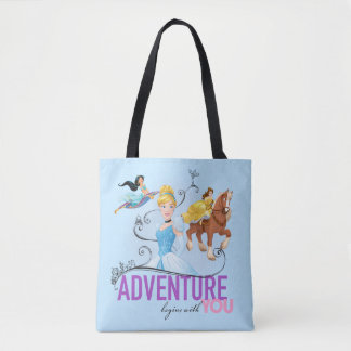 Disney Princesses | Adventure Begins With You Tote Bag
