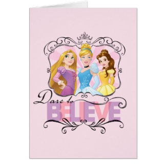 Disney Princesses   Dare To Believe Card