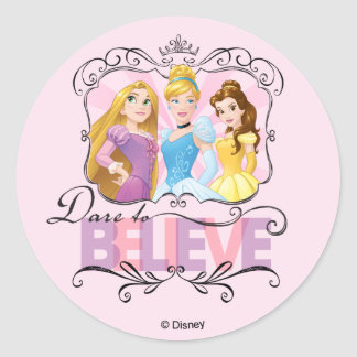 Disney Princesses | Dare To Believe Classic Round Sticker