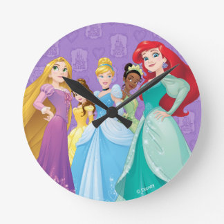Disney Princesses | Fearless Is Fierce Round Clock
