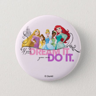 Disney Princesses   Never Give Up 2 Inch Round Button