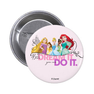 Disney Princesses | Never Give Up 2 Inch Round Button