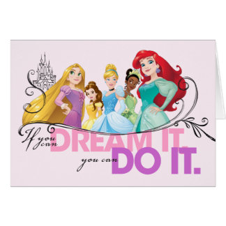 Disney Princesses   Never Give Up Card