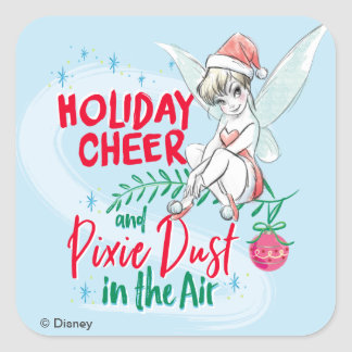 Disney | Tinker Bell | Holiday Cheer Quote Square Sticker