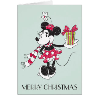 Disney | Vintage Holiday Minnie Card