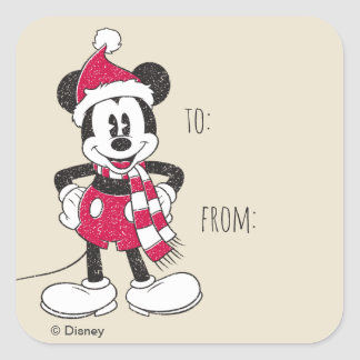 Disney | Vintage Mickey - Festive Fun Square Sticker